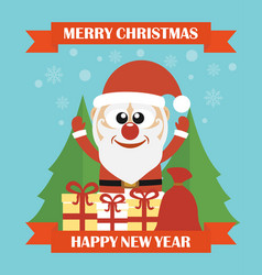 merry christmas happy new year modern concept flat vector image