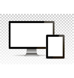 mock up set of blank screens computer vector image