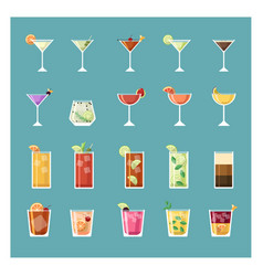 modern drinks and cocktail set vector image