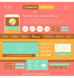 Modern Flat Style UI interface design elements vector