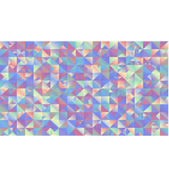 multicolored gradient mosaic triangle background vector image