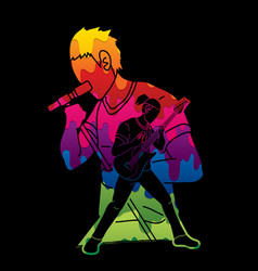 musician playing music togethermusic band artist vector image
