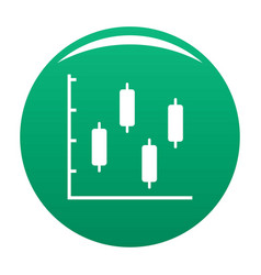 new diagram icon green vector image