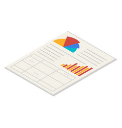 office paper icon set isometric style vector image
