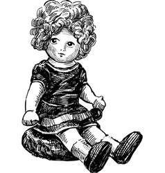 old doll vector image
