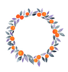 orange ball with halloween purple and blue leaves vector image