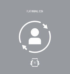 personal account updates - flat minimal icon vector image