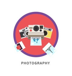 Photography photo equipment mode studio editing vector image