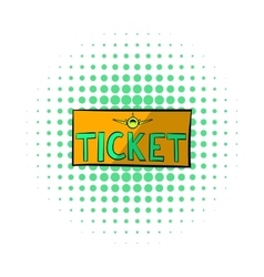 Plane tickets icon comics style vector image