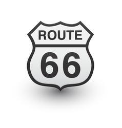 Route 66 icon vector