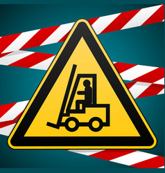 Safety sign caution - danger autoloader high vector