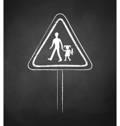 School warning sign vector