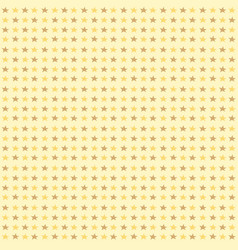 Seamless pattern with yellow stars on yellow vector
