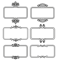 Set of calligraphic frames vector image