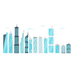 set of city modern skyscrapers vector image