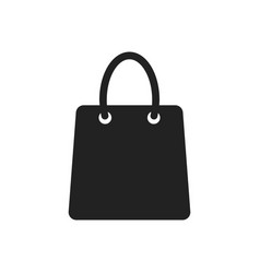 shopping bag icon shop sale bag flat gift vector image