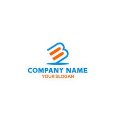 Simple bm logo design vector