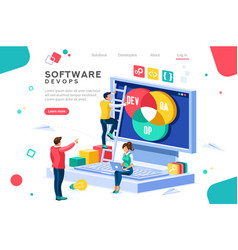 software devops concept vector image
