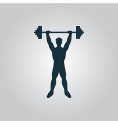 Strong man icon fitness vector