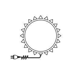 sun energy icon image vector image