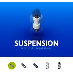 Suspension icon in different style vector image
