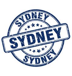Sydney blue grunge round vintage rubber stamp vector