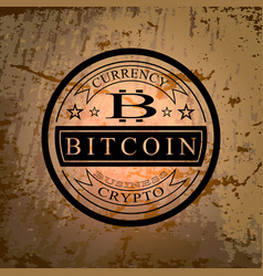 The sticker of bitcoin symbol vector