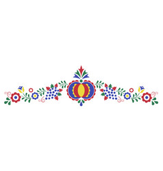 Traditional folk ornament the moravian ornament vector