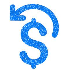 Undo payment grunge icon vector