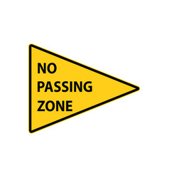 usa traffic road signs no passing zone vector image