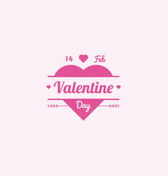 valentine logo design in modern style vector image