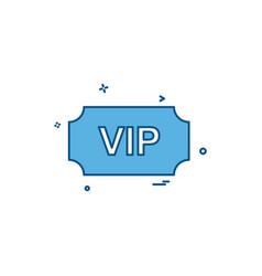 vip ticket icon design vector image