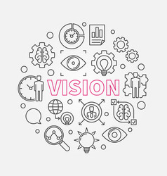 Vision round concept outline design vector