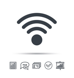 Wifi icon wireless internet sign vector