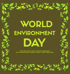 World environment day background color brown vector
