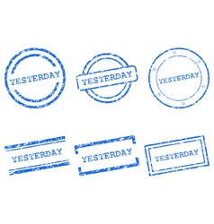 Yesterday stamps vector