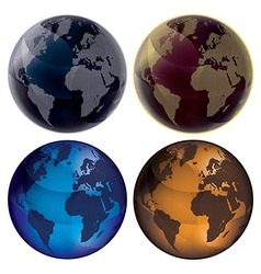 3d Globe Color set vector image vector image