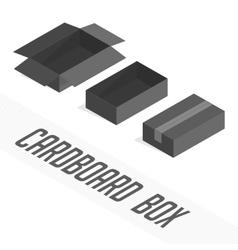 Black box set cardboard vector