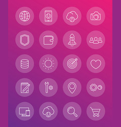 thin line web icons pack vector image