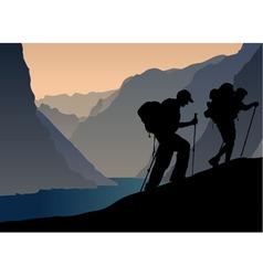 Climbers vector