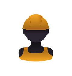 construction worker profile vector image