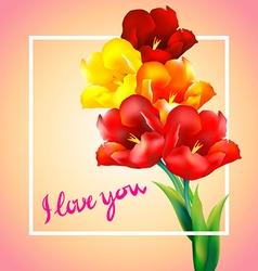 tulip flower design background vector image