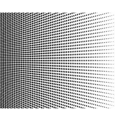abstract halftone black dots on white background vector image
