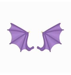 Bat wings icon cartoon style vector image vector image
