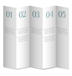 Folded white numbered paper banners vector image vector image