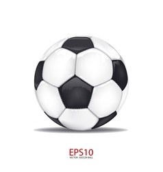 football soccer ball isolated on white vector image vector image