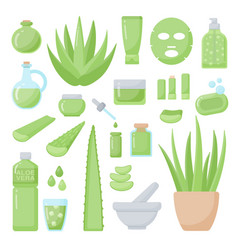 spa and aromatherapy flat icons set vector image vector image