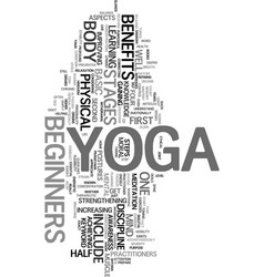 Yoga for beginners text word cloud concept vector
