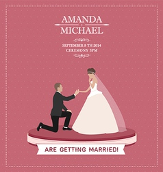 Are getting married vector image vector image