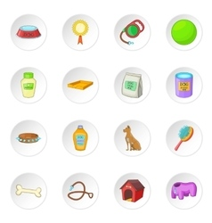 Dog care icons set vector image